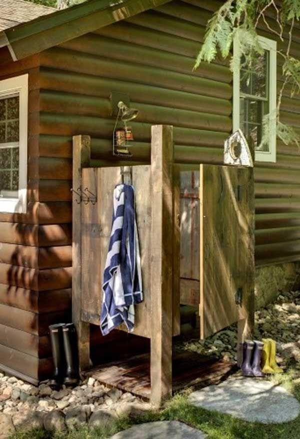 ducha de exterior de palets