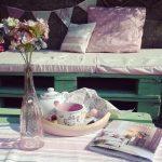 terraza romántica de palets