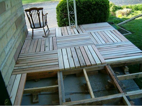 suelo de madera de palets