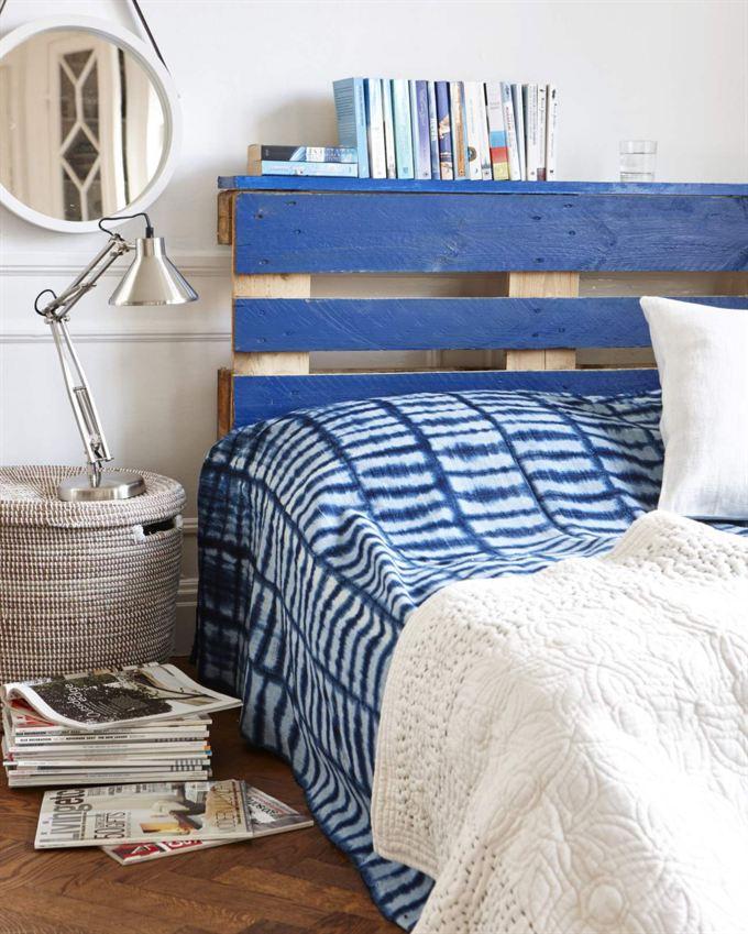 Un cabecero de palets de estilo marinero para tu cama i for Cabeceros de cama con palets