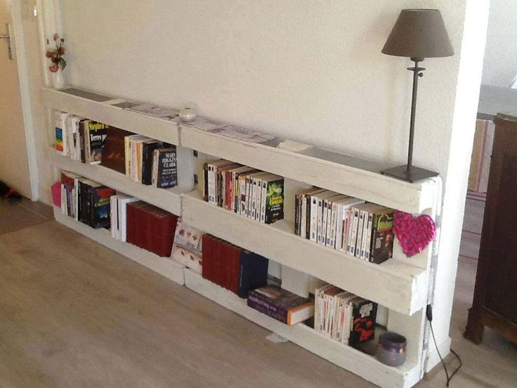 5 originales librer as de palets para guardar tus libros i love palets. Black Bedroom Furniture Sets. Home Design Ideas