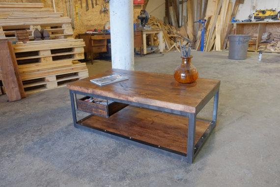 mesa de palets para salón