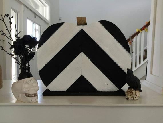 decoración halloween con palets