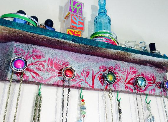 organizador de joyas de palet