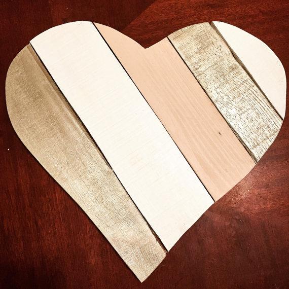 cuadro de corazón de palet
