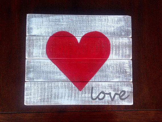 cuadro de palet de corazón
