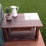 mesa con cubitera de palets