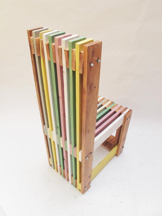 Sillas de dise o hechas con palets muy trabajadas i love for Cosas hechas de madera