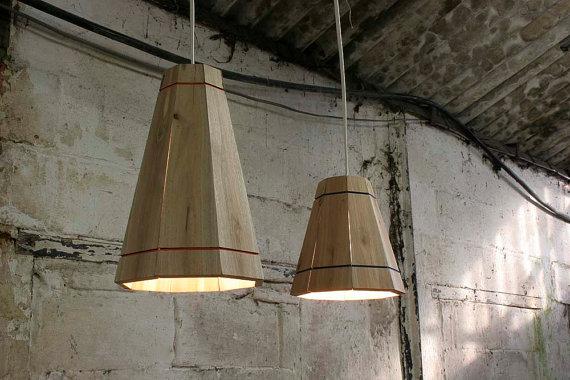 lámpara de techo de palets