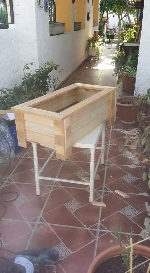 jardinera de palets