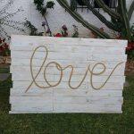 cabecero de palets Love