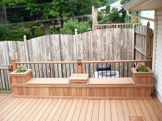 5 bancos de palet integrados en el jard n o terraza i for Bancos de terraza y jardin