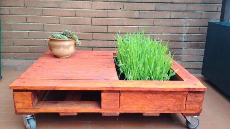 Cmo hacer una mesa con jardinera paso a paso I Love Palets