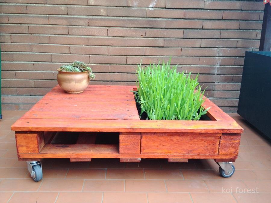 C mo hacer una mesa con jardinera paso a paso i love palets - Como hacer jardineras con palets ...