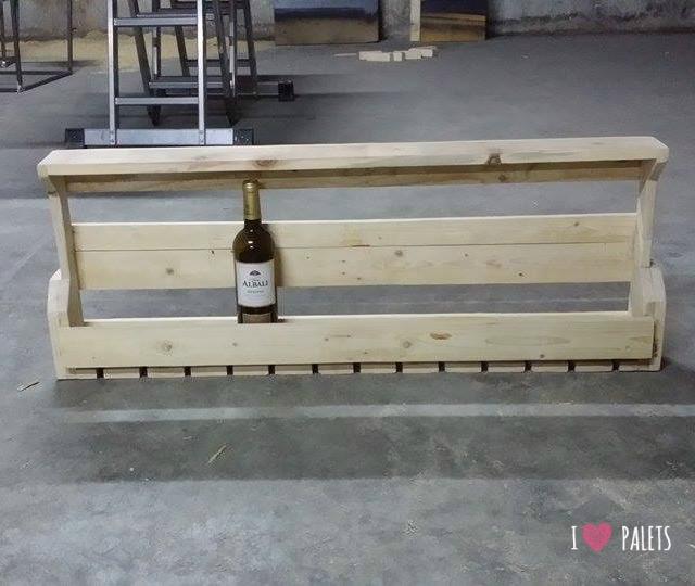 Un botellero de palets para 12 botellas i love palets - Botellero de pared ...
