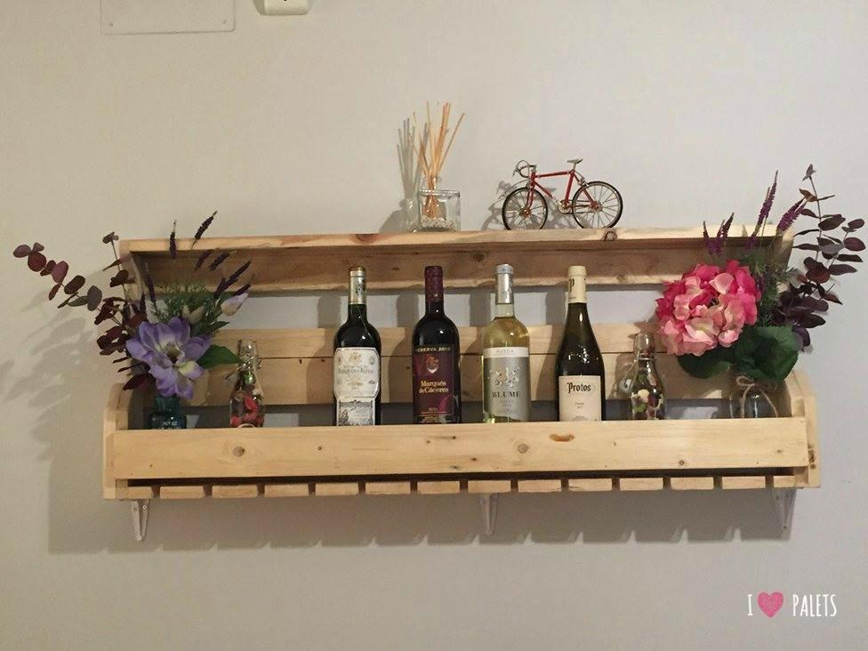 Un botellero de palets para 12 botellas i love palets - Botelleros de madera rusticos ...