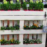 jardín de palets