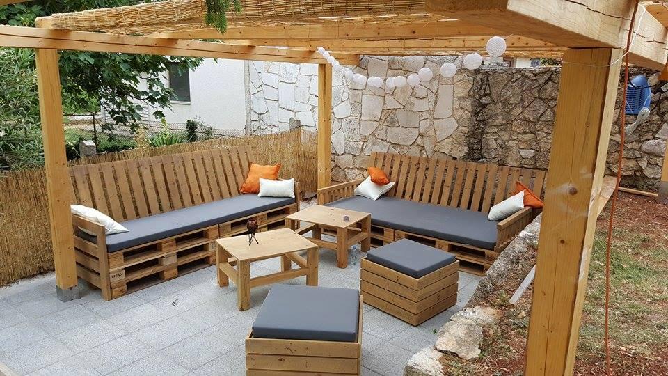 Estilos de muebles de terraza hechos con palets con cu l for Terrazas easy 2016