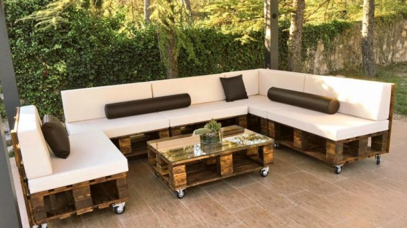 Estilos de muebles de terraza hechos con palets con cu l Muebles baratos para jardin y terraza