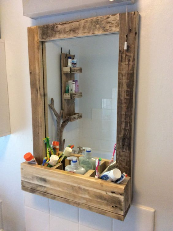Inspiraci n palet en espejos i love palets for Ideas para hacer espejos decorativos