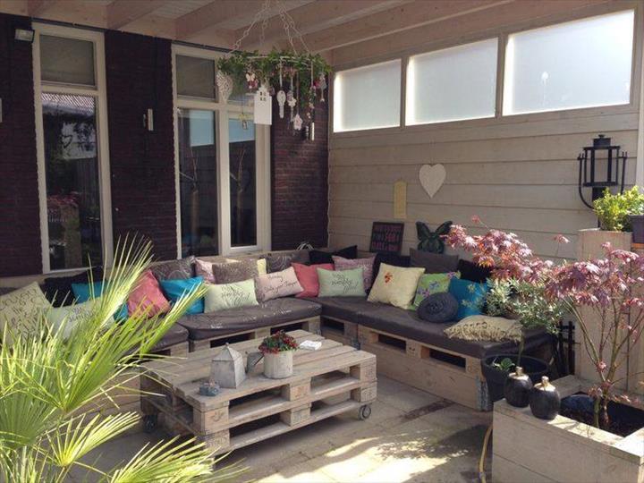 Preciosos conjuntos para la terraza hechos con palets i for Conjuntos de terraza baratos