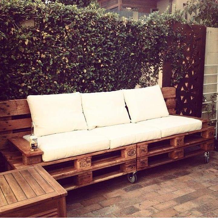 Preciosos conjuntos para la terraza hechos con palets i for Conjunto para terraza