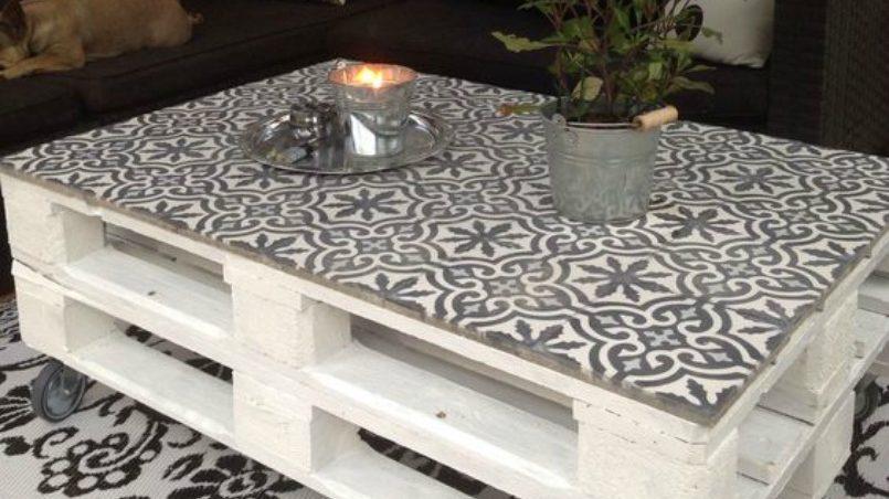 azulejos hidráulicos y palet