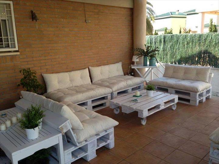 2 conjunto de terraza de palets - Terraza Con Palets