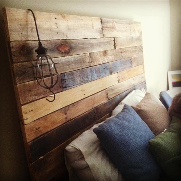Insp rate con estos 10 sencillos cabeceros de camas hechos - Cabeceros de cama con palets ...