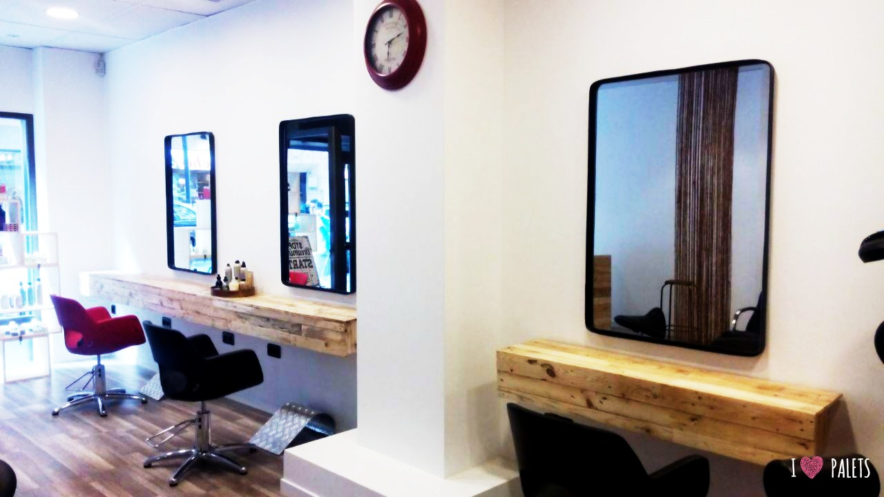 Muebles de palets para una peluquer a i love palets for Muebles de peluqueria en oferta
