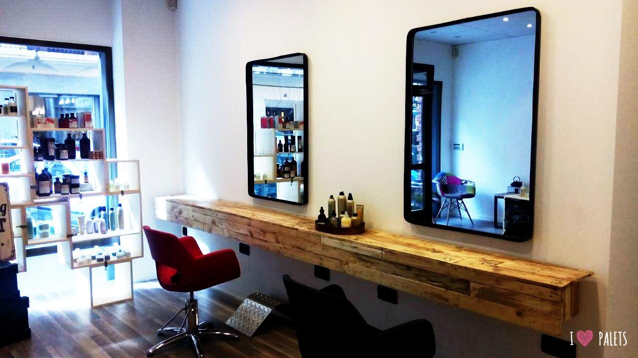muebles de palets para peluquería