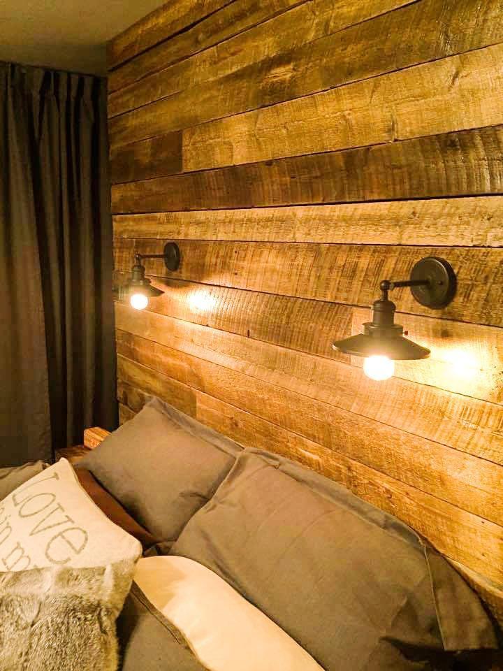 5 cabeceros de cama de palet que ocupan toda la pared i - Cabeceros de piedra ...