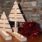 decoracion navideña con palets
