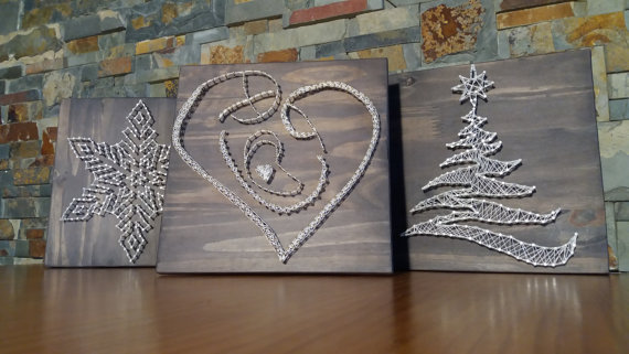 cuadros navideños con palets