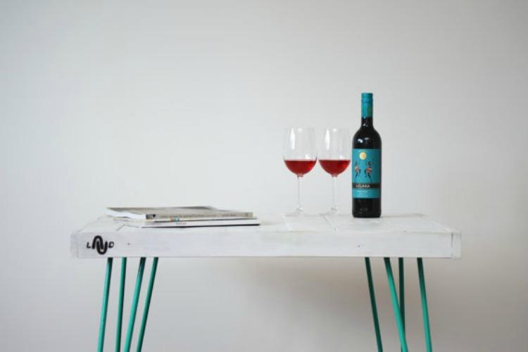 mesas de diseño hechas con palets