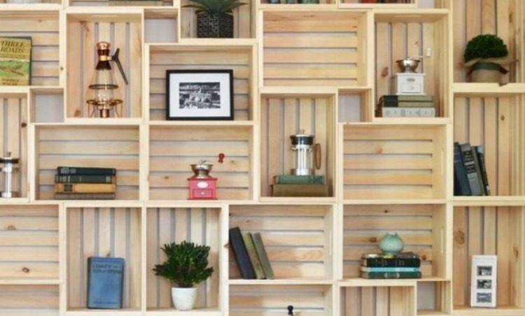 Cajas de fruta para decorar tu hogar i love palets - Como decorar cajas de madera de fruta ...