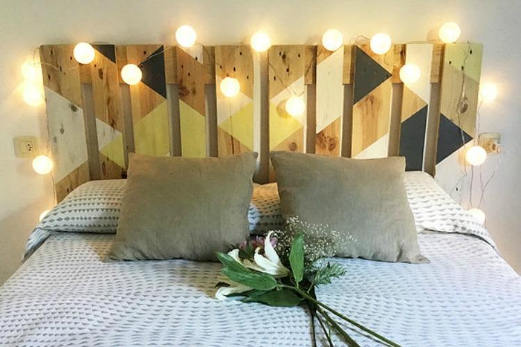 Cabecero de palets de dise o moderno i love palets - Dormitorios reciclados ...