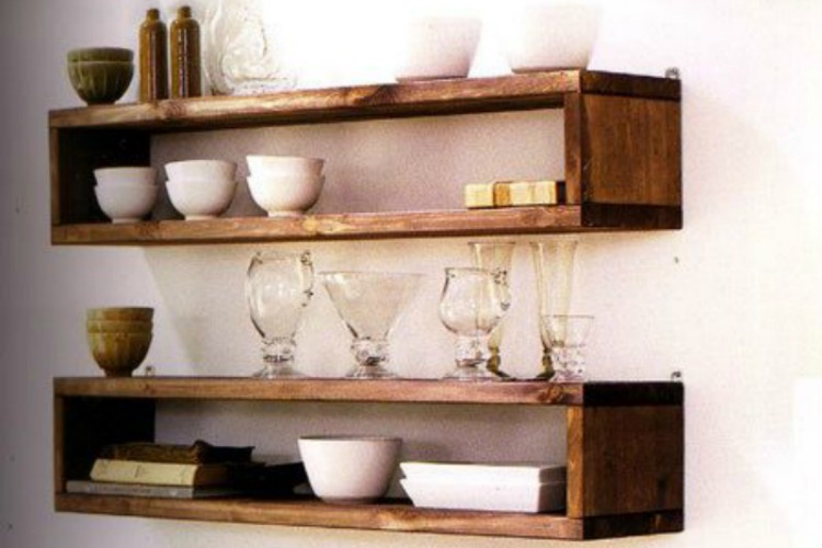 Ideas de estanter as de palets para decorar una aburrida pared i love palets - Estanterias de palet ...