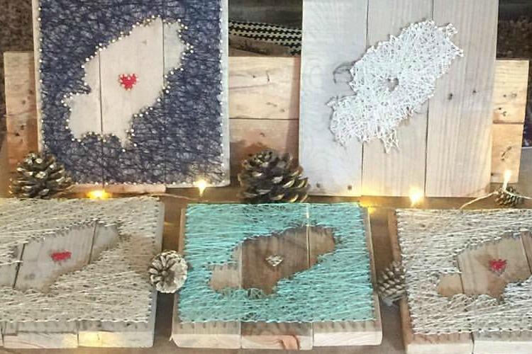 cuadros de palets decorativos