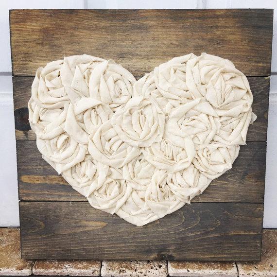cuadros de palet de corazon
