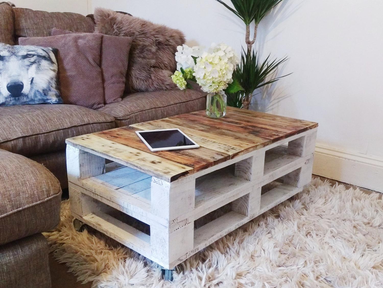 mesas de salón de palets