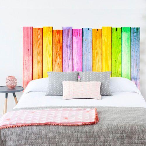 Cabeceros de palet para camas muy originales y coloridas - Ideas cabeceros originales ...