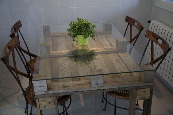 mesa de comedor de palet