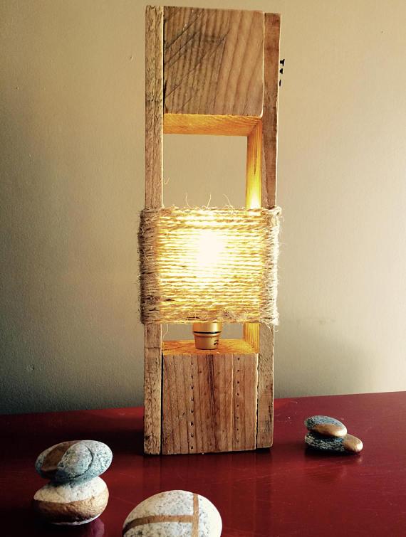 lámpara de palet