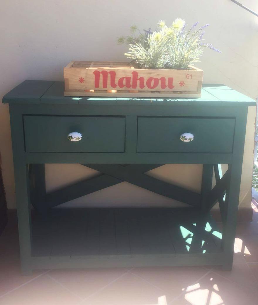 mueble de palet para recibidor