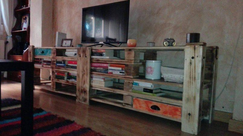 mueble de tv de palet