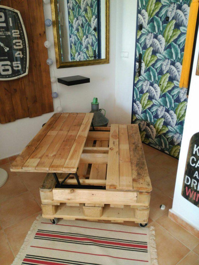 mesa elevable de palets