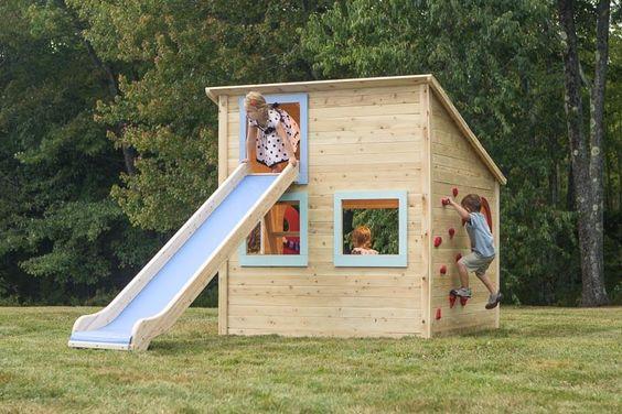 10 casitas de madera de palets para ni os espectaculares - Casa de palets para ninos ...
