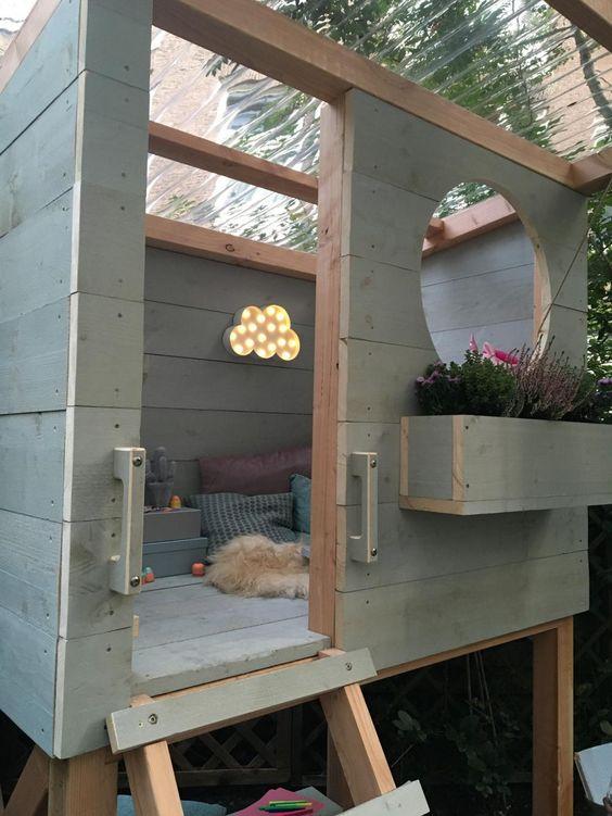 casa de palets para niños