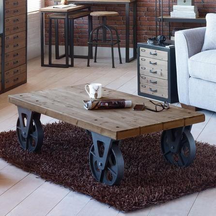 mesas de palet con ruedas